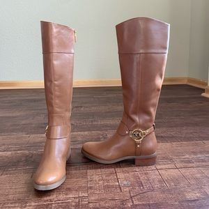 Michael Kors genuine brown leather riding boots
